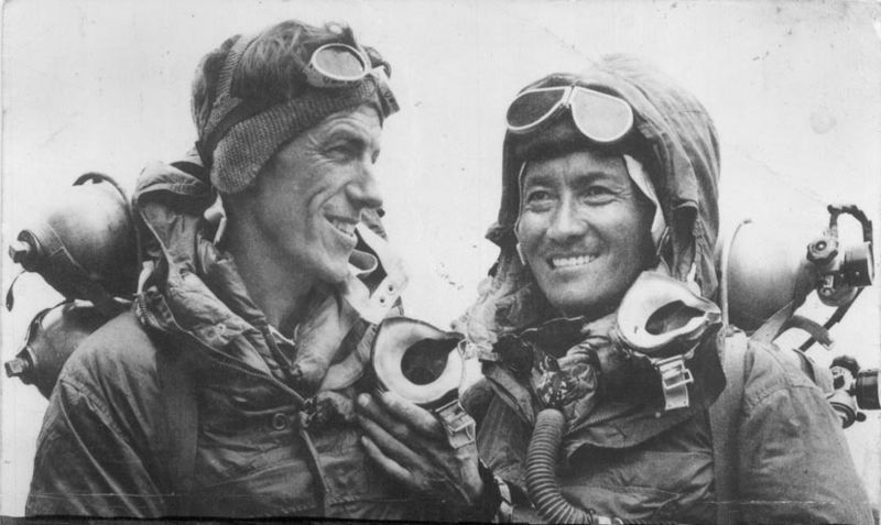 Edmund Hilary and Tenzing Norgey