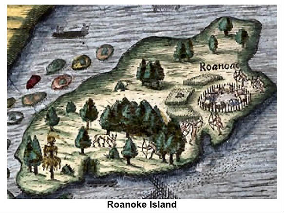 roanoke colony Roanoke island was the site of the 16th-century roanoke colony, the first english colony in the new world it was located in what was then called virginia.