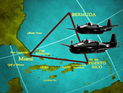bermuda triangle flight 19 A squadron of navy planes disappears and puts the bermuda triangle on the  map.